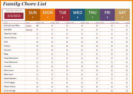 chore list template 8 chore list template memo templates