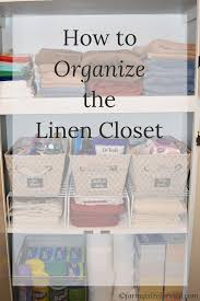 how to organize the linen closet farm reformed