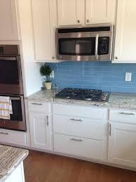 kitchen backsplash blue subway tile to install glass tile