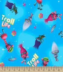 dreamworks trolls print fabric troll life joann