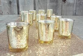 mercury tea light holders 12 gorgeous glittery gold mercury glass candle holders gold