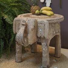 Elephant Side Table Original Design Side Table Wooden Oval Elephant Zenza