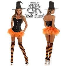 Black Corset Halloween Costume Corset Halloween Costumes Glitter Pin Witch 4pc Costume