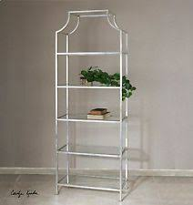 Silver Bookshelf Glass Bookcases Ebay