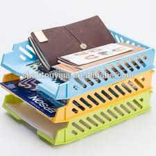 office desk organizer plastic documents basket plastic file tray