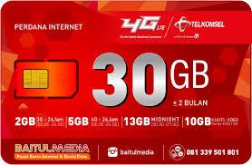cek kuota telkomsel 30gb paket perdana internet simpati kuota besar 30gb internet murah di bali