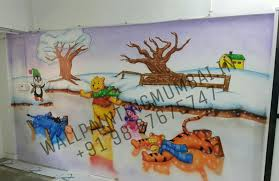 kids room cartoon painting specialist artist for play school we are make your school so beautiful and unique we are specialised for hand painted wall murals for your schools looks beautiful