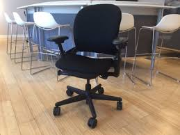 refurbished steelcase leap chair version 1 black frame office