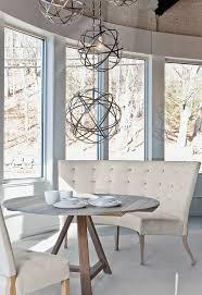 banquette with round table verellen fermette round table caroline banquette emanuelle chairs