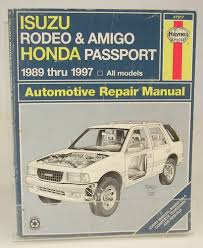 100 isuzu rodeo utility owners manual used isuzu trooper