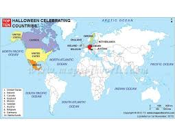 buy world map of top ten celebrating countries