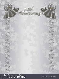 free 25th wedding anniversary invitations free templates for