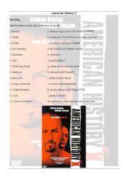 english teaching worksheets american history x