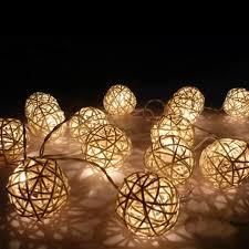 Rattan Ball Fairy Light 3m Aa Battery Powered