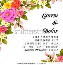 All About Flowers - wedding card stock vector 173309192 shutterstock