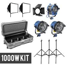 Chimera Lighting Arri Fresnel Kit 2 Arri 1000w And 1 Arri 650w Chimera Softbox