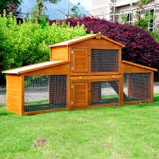 Rabbit Hutches And Runs Extra Large Rabbit Hutch Patio Guinea Pig Wooden Cage House Coop