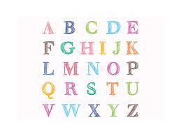 abc letters alphabet colourful kids children photo framed print