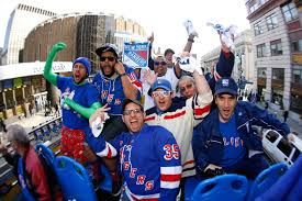 new york rangers fans rangers playoff roars hard to hear at reved garden