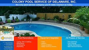 Residential Swimming Pool Repair Services Delaware PA MD NJ