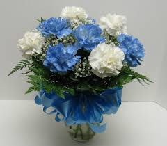 blue carnations dozen blue white carnations in waverly ny jayne s flower shop