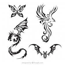 angel wings tattoos vector free download