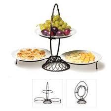 keller 3 tier swivel plate stand buffet u0026 serving parties