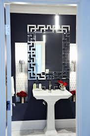 Dark Blue Powder Room A Lux Powder Room