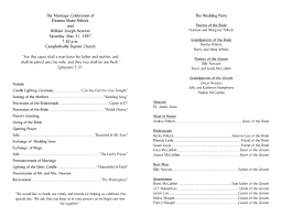 wedding ceremony program templates program template 2
