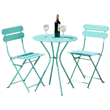 Wicker Bistro Table And Chairs Amazon Com Rst Brands Sol 3 Piece Bistro Set Blue Garden
