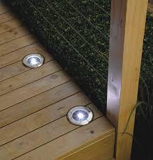 solar led deck step lights solar lights for deck steps american gardener