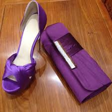 dreams store purple satin mature red bottom high heels match party
