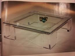 Square Acrylic Coffee Table 16 Best Coffee Table Images On Pinterest Lucite Table Home And