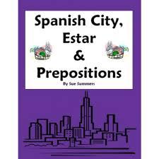 city vocabulary with estar u0026 location prepositions worksheet