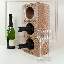 personalised solid oak wine rack by letteroom notonthehighstreet com