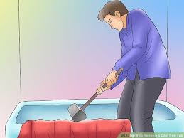 Paint Cast Iron Bathtub How To Remove A Cast Iron Tub 5 Steps With Pictures Wikihow