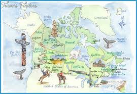 map attractions canada map tourist attractions travelsfinders