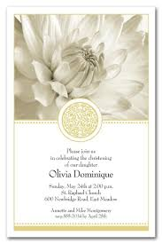 religious invitations golden elegance floral religious invitations