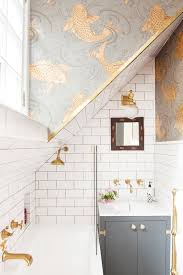 small bathroom wallpaper ideas best 25 small bathroom wallpaper ideas on half