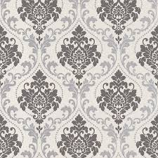 Silver Metallic Wallpaper by Silver Royal Damask Wallpaper Walls Republic