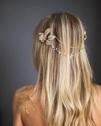 boho hair wrap grecian gold halo hair wrap gold hair chain wedding gold