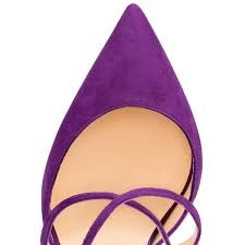 christian louboutin maltaise 100mm suede pointed toe pumps purple