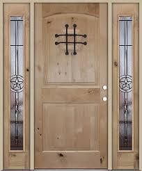 Exterior Doors Houston Tx Rustic Knotty Alder Wood Entry Door With Sidelites