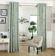 american country home decor new rustic trees birds blackout curtain fabric bedroom bay window