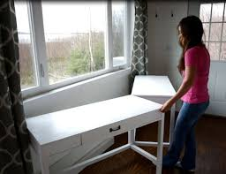 Diy Desk Plans Free by Ana White Desks That Convert To Table For Our Tiny House On