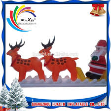 Lighted Santa And Reindeer Outdoor by Santa And Reindeer Outdoor Decoration Santa And Reindeer Outdoor