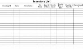 Simple Inventory Sheet Template by Inventry List Template