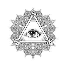 vector all seeing eye pyramid symbol tattoo design vintage han