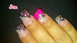 hello kitty leopard 3d bow nail art gallery