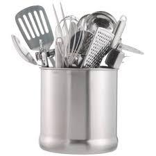 kitchen utensil canister utensil crocks holders you ll wayfair